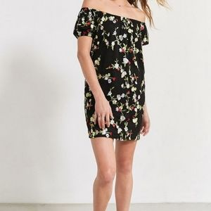 Urban Outfitters Floral Embroidered Mini Dress